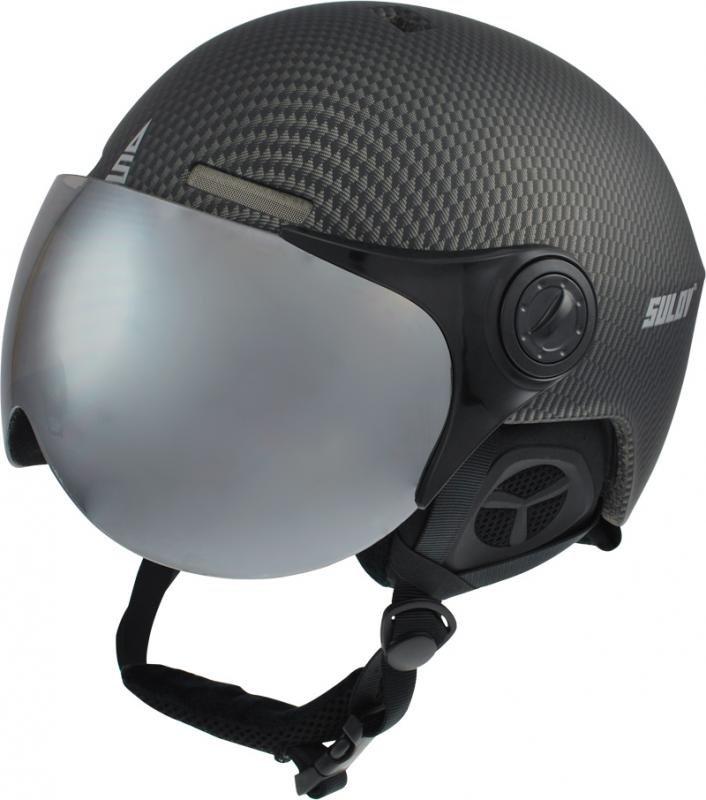 Černá lyžařská helma Sulov - velikost 54-56 cm