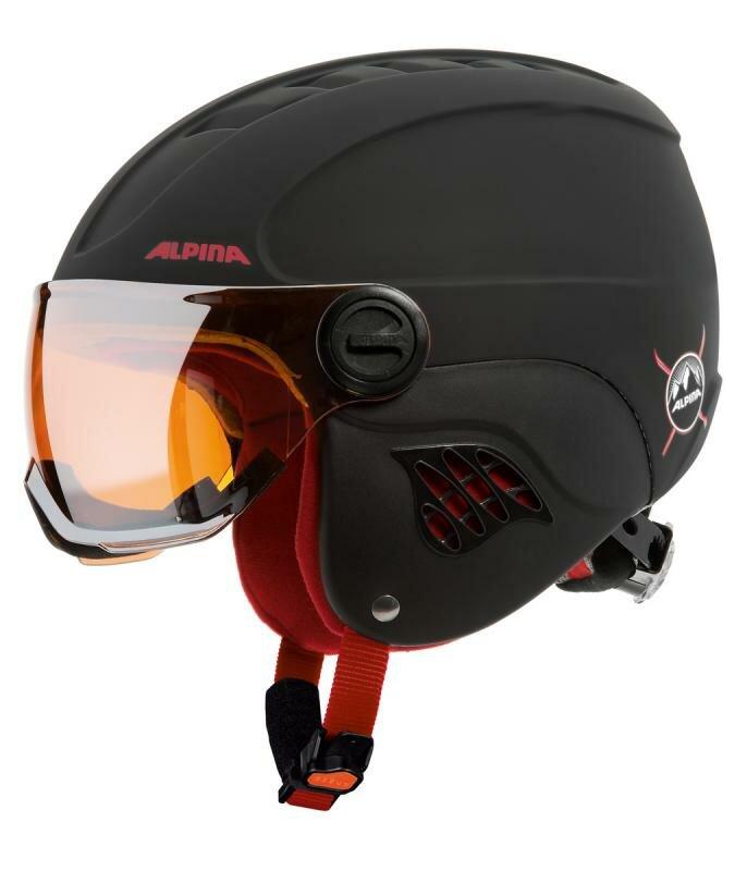 Černá dětská lyžařská helma Alpina - velikost 48-52 cm