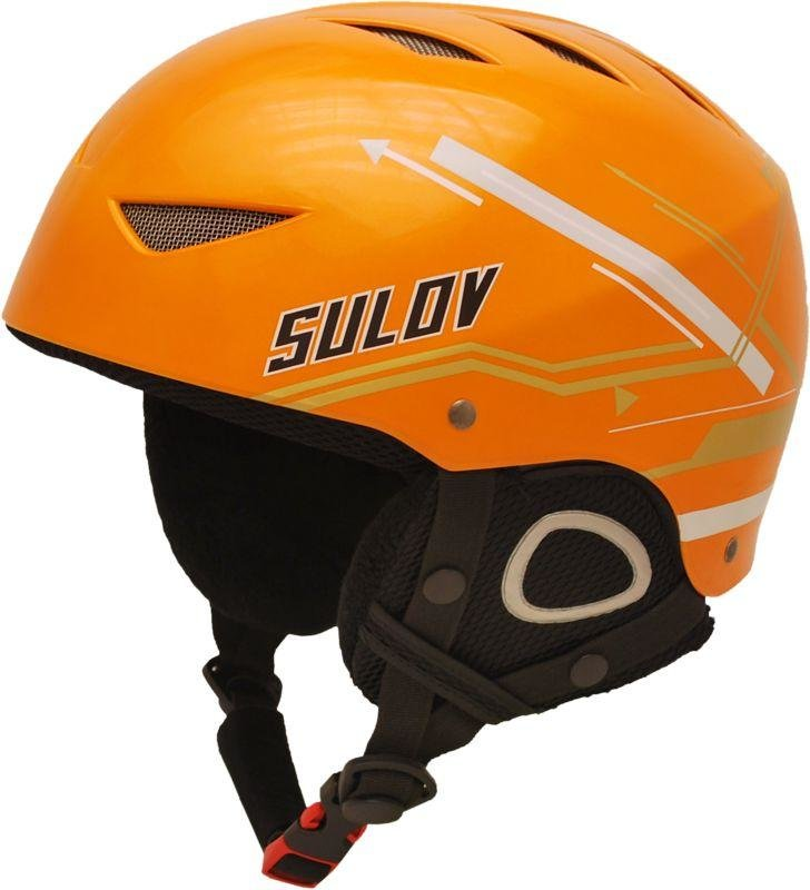 Oranžová lyžařská helma Sulov - velikost 52-54 cm