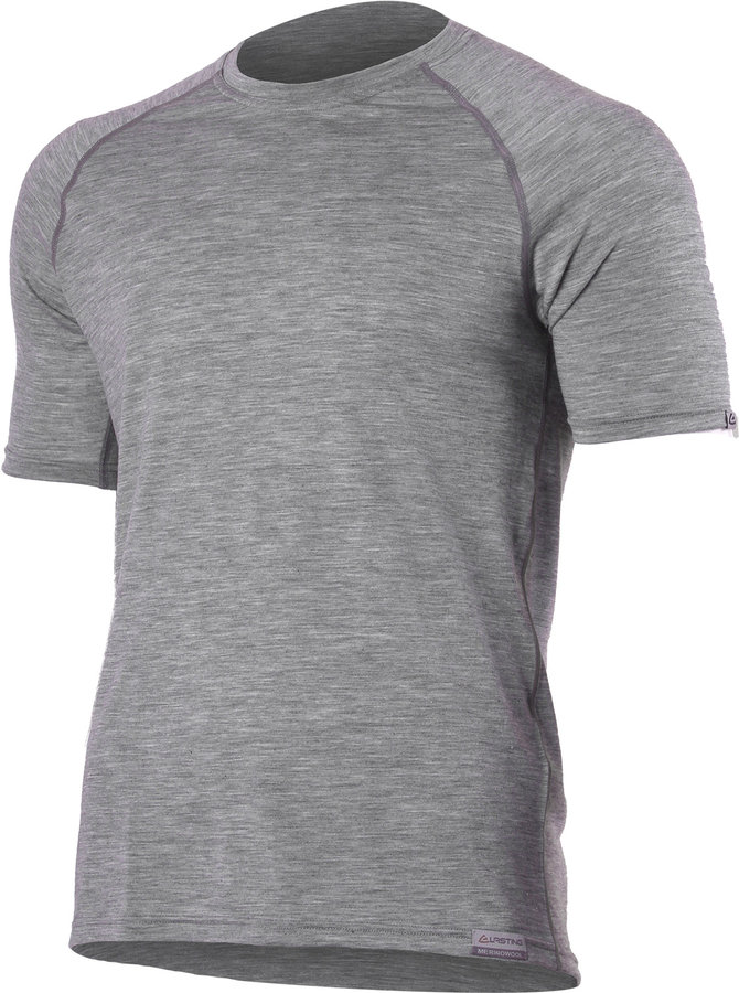 Šedé pánské tričko s krátkým rukávem Lasting - velikost S
