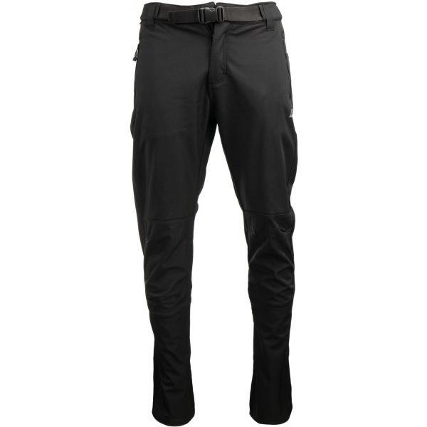 Černé softshellové pánské kalhoty Alpine Pro