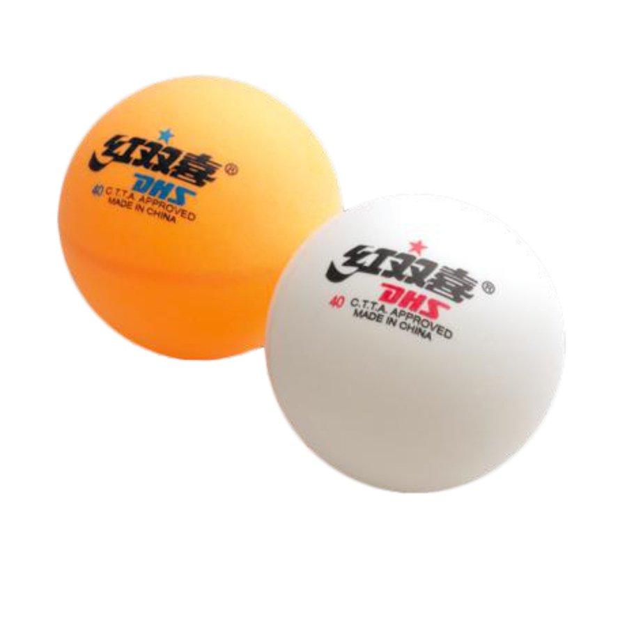 Bílý míček na stolní tenis Double Happines - 10 ks
