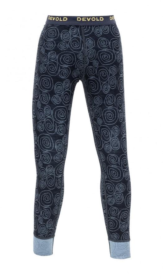Modré dětské funkční kalhoty Devold - velikost 104