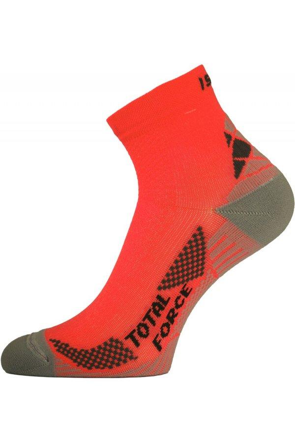 Oranžové pánské běžecké ponožky Lasting - velikost 46-49 EU