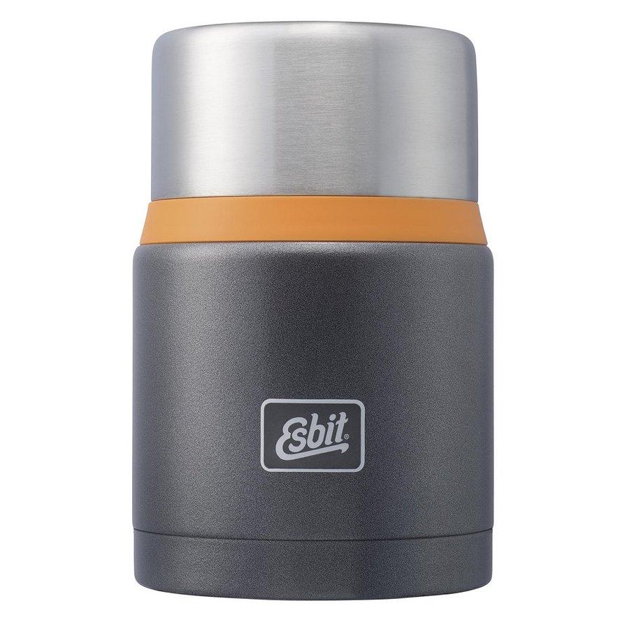 Šedá termoska na jídlo Esbit - objem 0,75 l