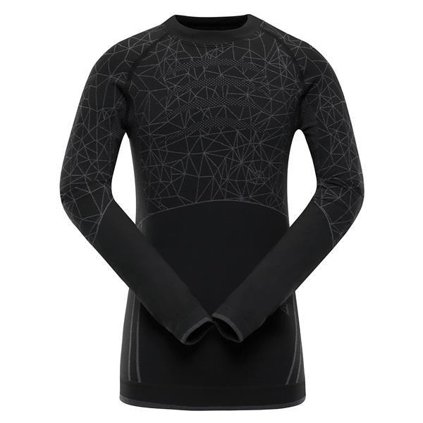 Černé dětské funkční tričko Alpine Pro