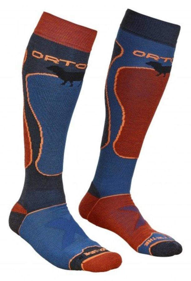 Červeno-modré pánské lyžařské ponožky Ortovox