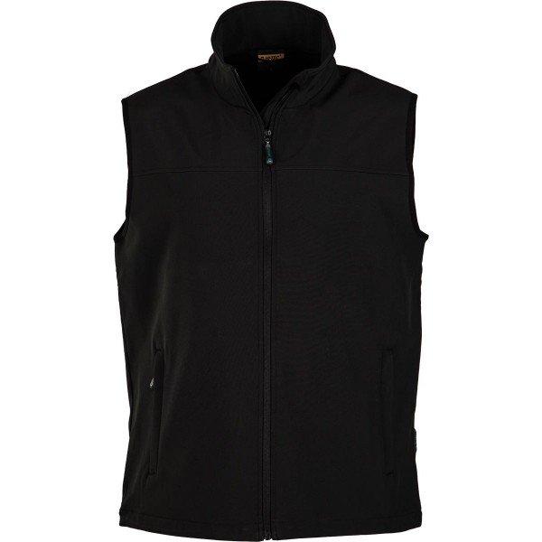 Černá softshellová pánská vesta Hi-Tec