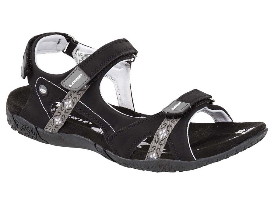 Černo-šedé dámské sandály Loap - velikost 36 EU
