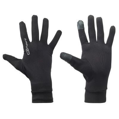 Černé běžecké rukavice Kalenji