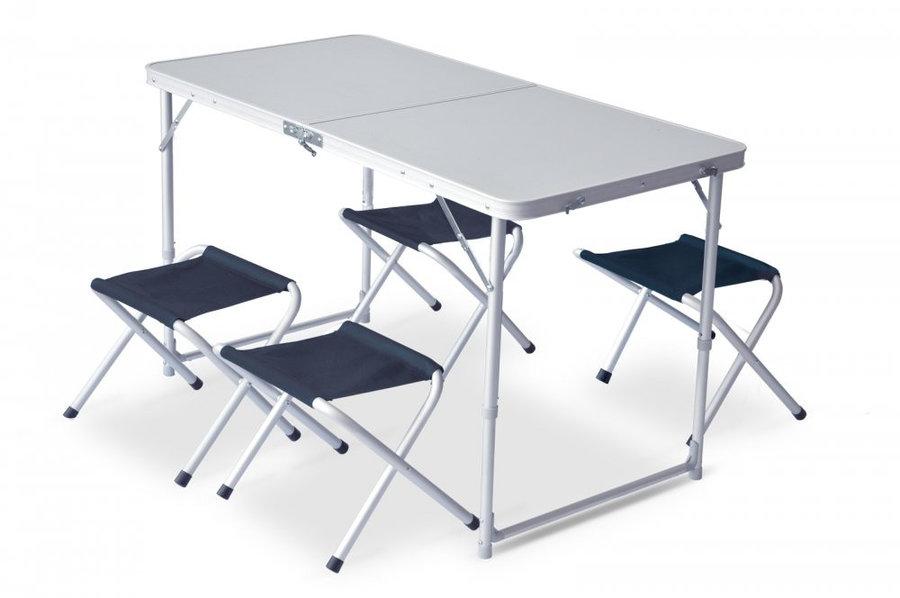 Kempingová sada nábytku Pinguin 1x stůl, 4x židle