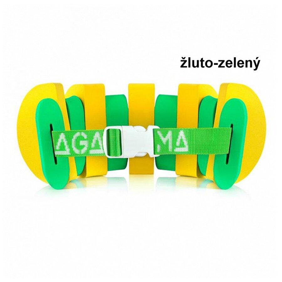 Zeleno-žlutý plavecký pás Agama - délka 120 cm