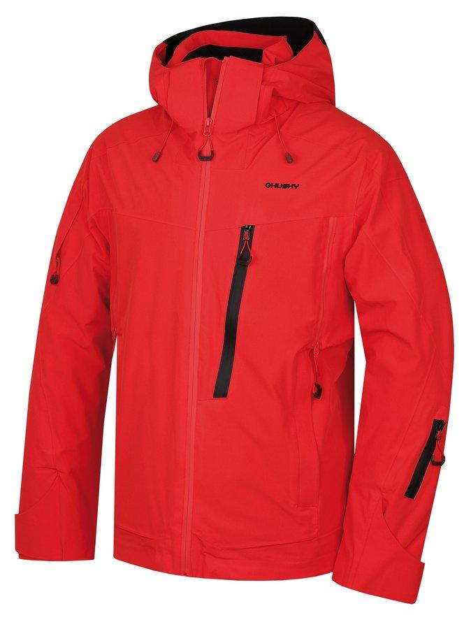 Červená pánská lyžařská bunda Husky - velikost L