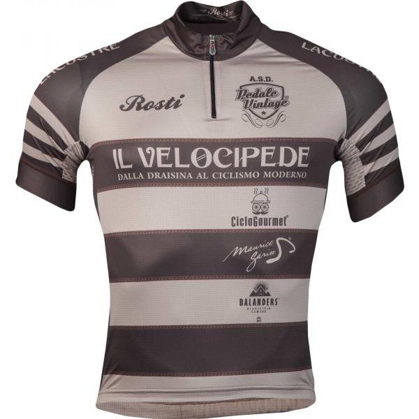 Šedý pánský cyklistický dres Rosti