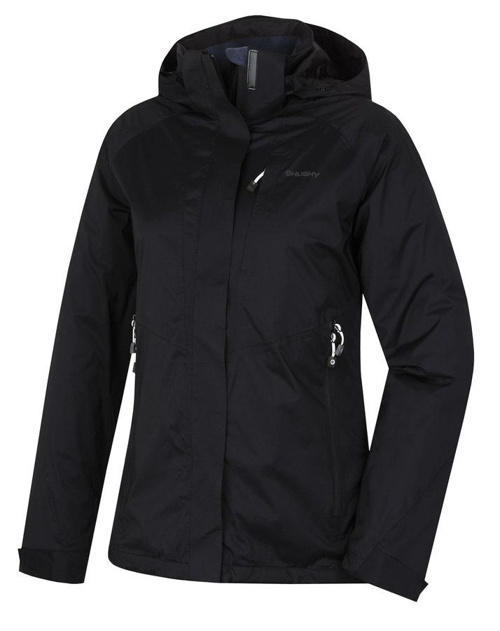 Černá hardshellová dámská bunda Husky - velikost S