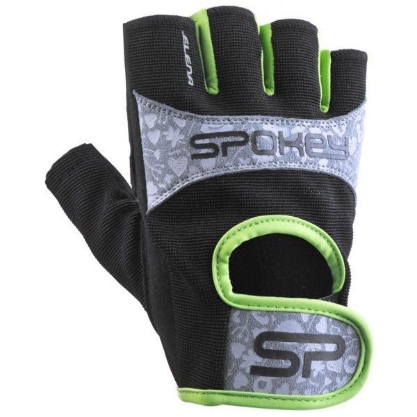 Černo-šedé dámské fitness rukavice Spokey