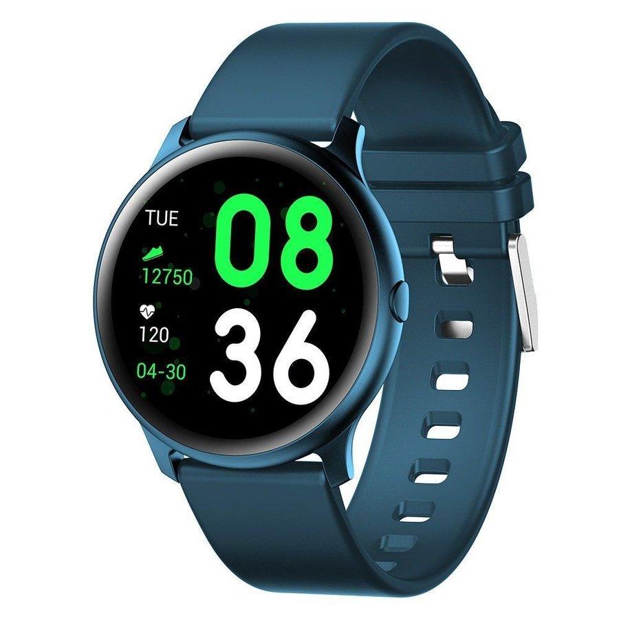 Modré digitální chytré hodinky Roundband 2, Smartomat