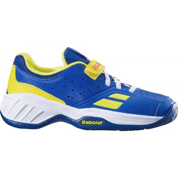 Modro-žlutá dětská tenisová obuv Babolat - velikost 33 EU