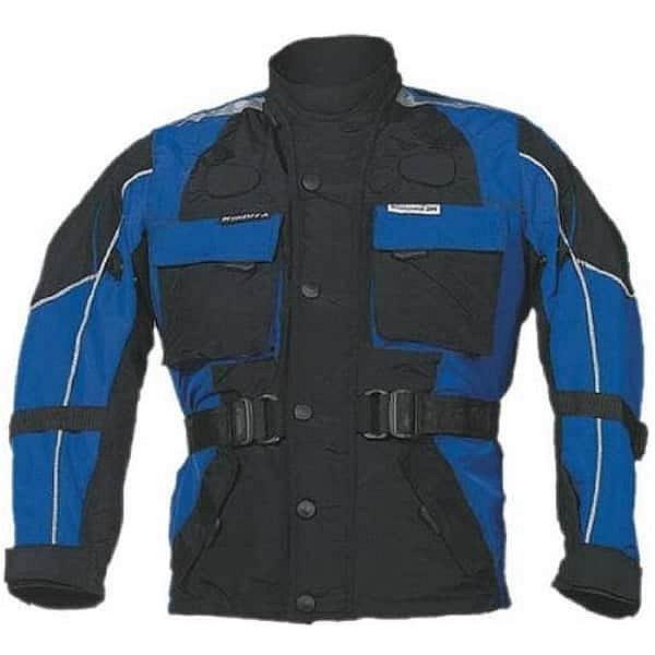 Černo-modrá dětská motorkářská bunda Taslan, Roleff