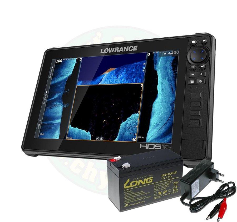 Echolot - Lowrance Echolot HDS LIVE 12 se sondou Active Imaging 3v1 + baterie + nabíječka ZDARMA