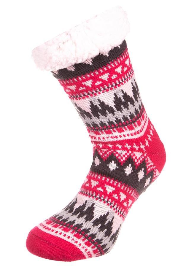 Bílo-růžové vysoké ponožky Alpine Pro - velikost L