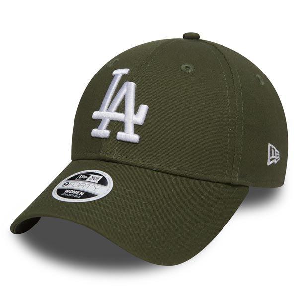 Kšiltovka - Dámská kšiltovka New Era 9Forty Womens Essential LA Dodgers Rifle Green - UNI