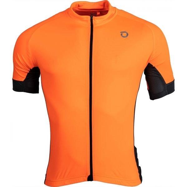 Oranžový pánský cyklistický dres Briko