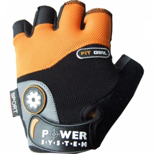 Oranžové dámské fitness rukavice Power System