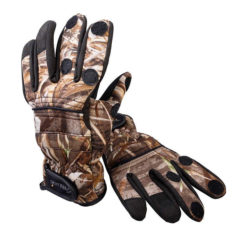 Černo-hnědé unisex neoprenové rukavice MAX5, Prologic