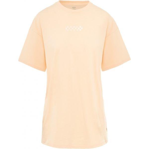 Oranžové dámské tričko s krátkým rukávem Vans