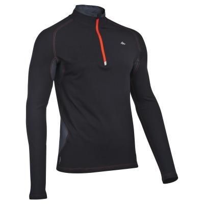 Černé pánské turistické tričko s dlouhým rukávem Quechua - velikost XL