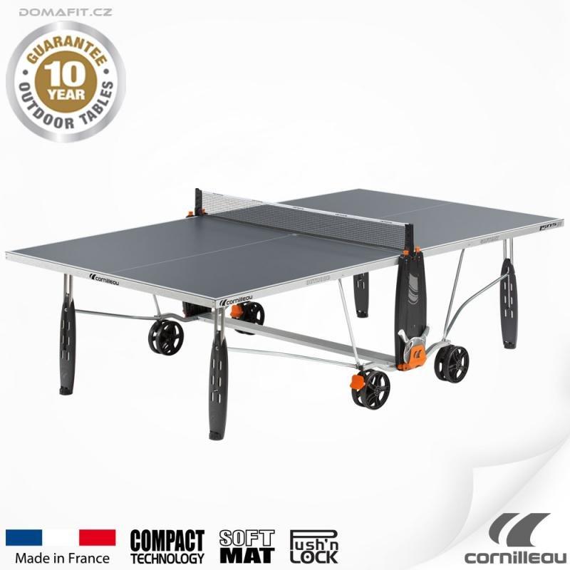 Šedý venkovní stůl na stolní tenis 150 S Crossover, Cornilleau