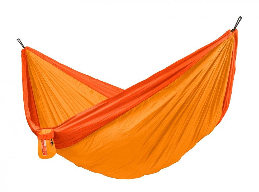 Oranžová houpací síť pro 2 osoby LA SIESTA