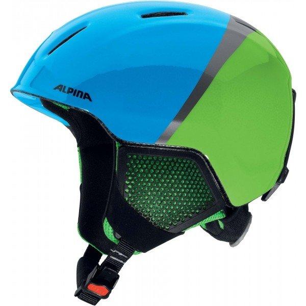 Modro-zelená pánská lyžařská helma Alpina - velikost 48-52 cm