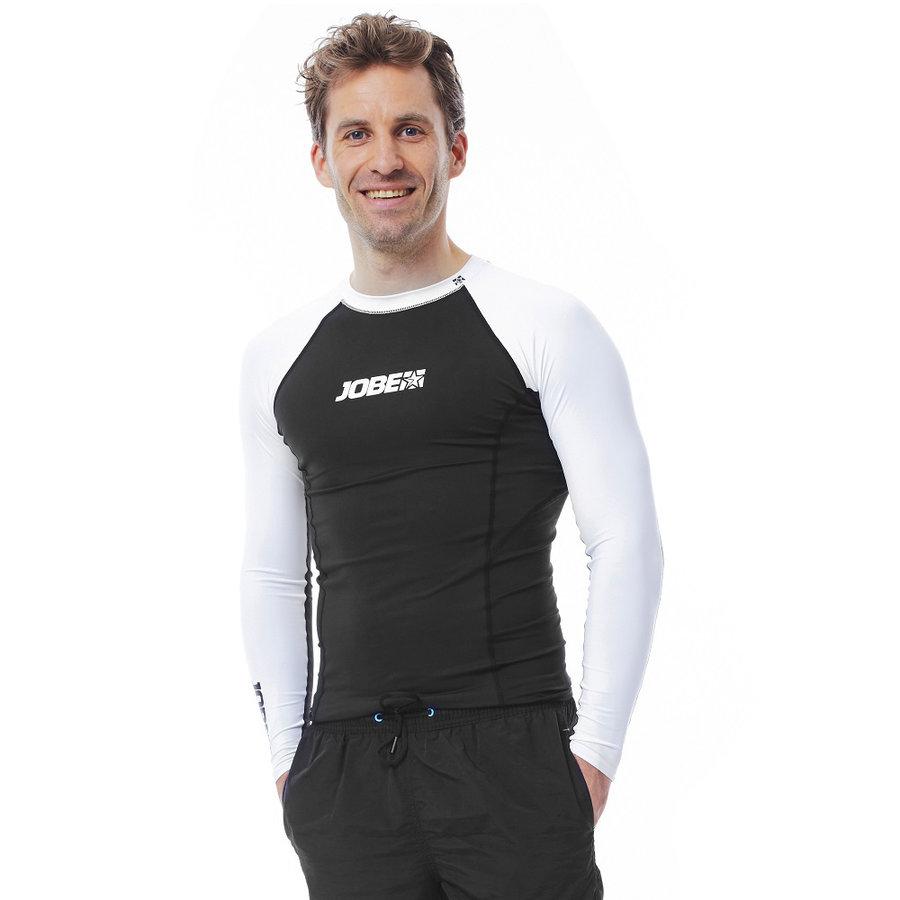 Bílo-černé pánské lycrové tričko Rashguard, Jobe - velikost S