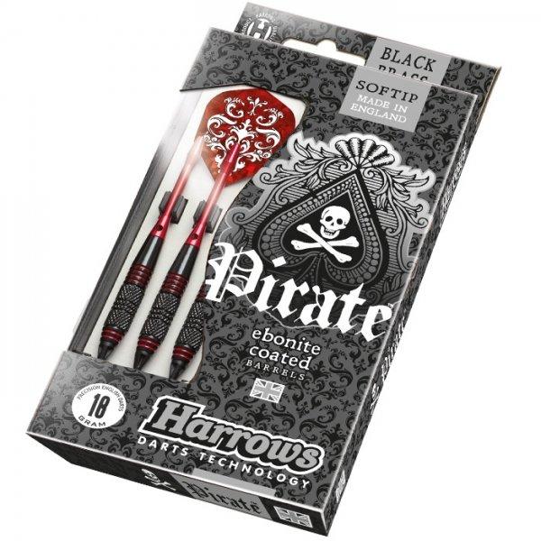 Šipky - Šipky Harrows Pirate Soft 18g K Red 3ks