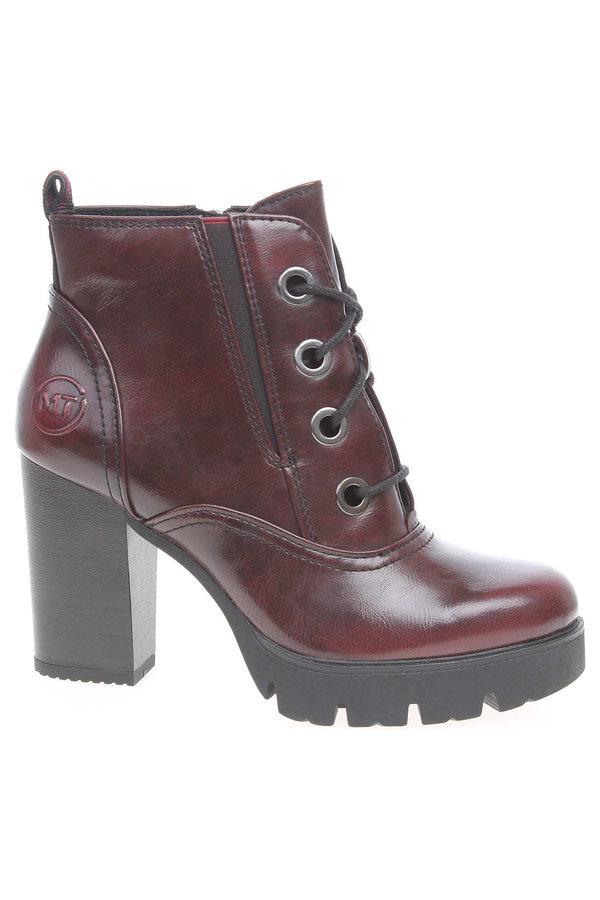 Červené dámské kotníkové boty Marco Tozzi - velikost 38 EU