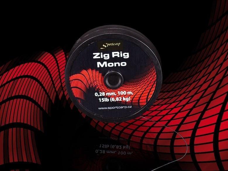 Rybářský vlasec - Sportcarp rybářský vlasec Zig Rig Mono Varianta: Sportcarp rybářský vlasec Zig Rig Mono 0,28 mm 15lb 6,82 kg