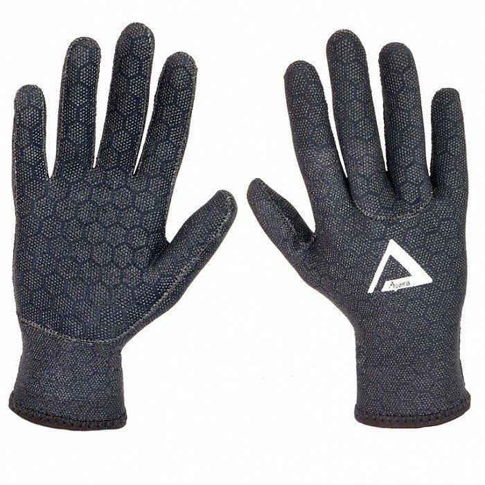 Černé neoprenové rukavice Superstretch, Agama - velikost S