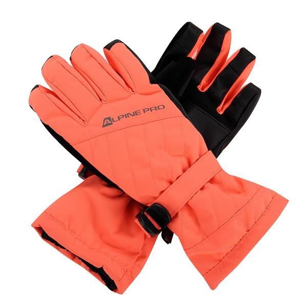 Růžové dámské lyžařské rukavice Alpine Pro