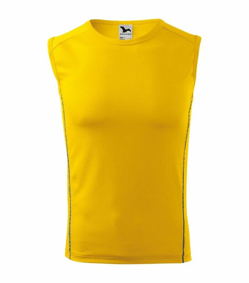 Žluté pánské tričko bez rukávů Adler - velikost XL
