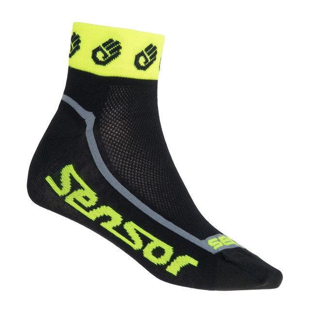 Žluté pánské cyklistické ponožky Race Lite, Sensor - velikost 43-46 EU