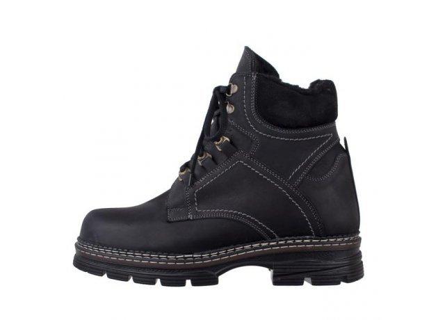 Černé pánské zimní boty BENT