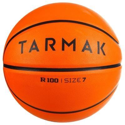 Oranžový basketbalový míč R100, Tarmak - velikost 7