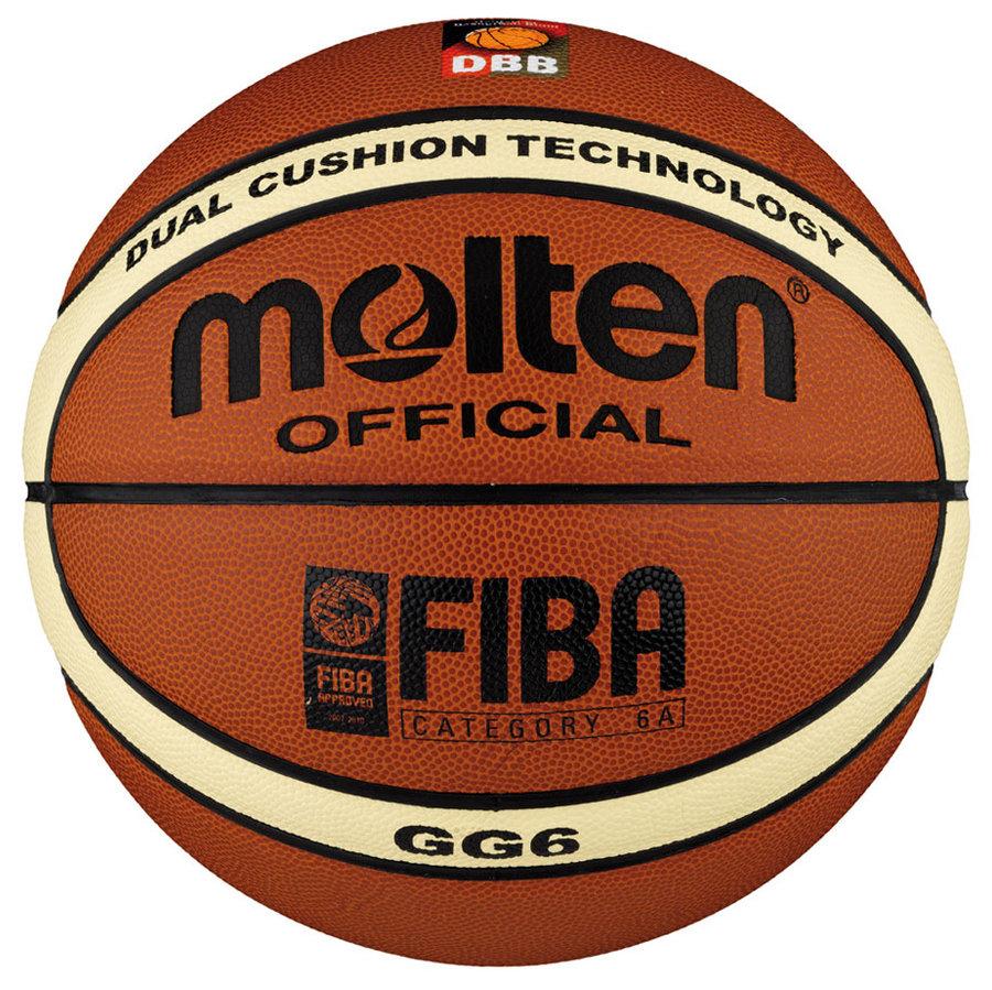 Oranžový basketbalový míč BGG6, Molten - velikost 6