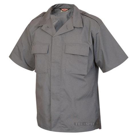 Služební košile - Košile služební krátký rukáv rip-stop TMAVĚ ŠEDÁ