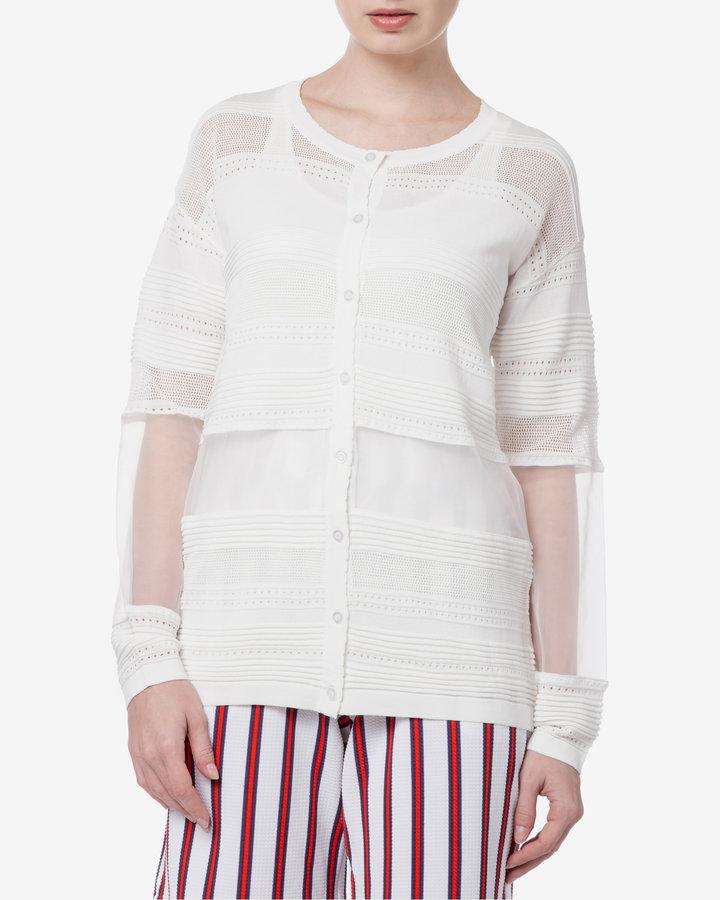 Bílý dámský svetr Silvian Heach