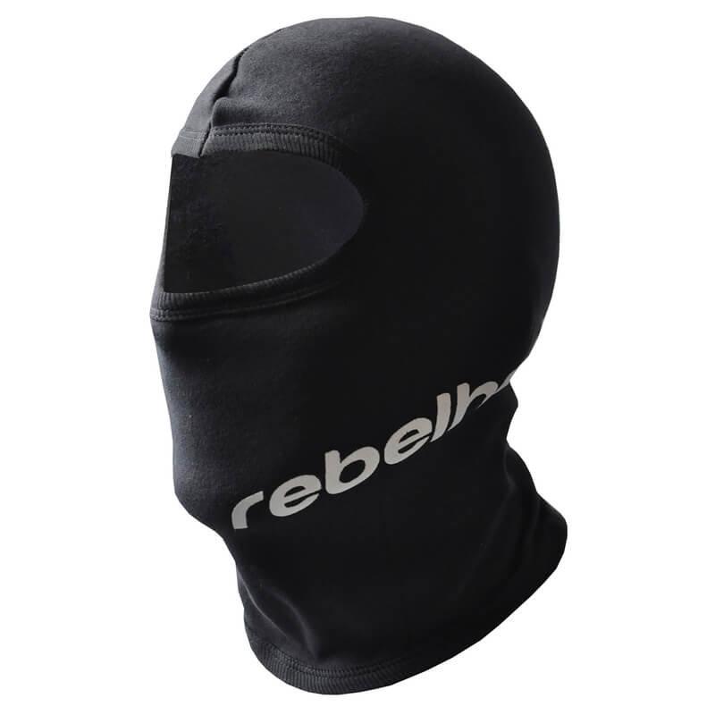 Černá kukla na motorku Rebelhorn - univerzální velikost