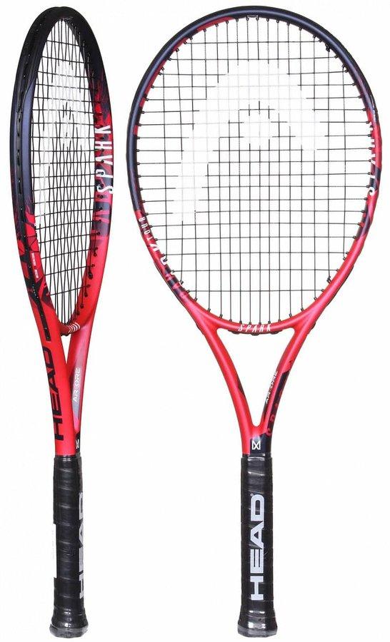 Červená tenisová raketa Head - délka 68,5 cm