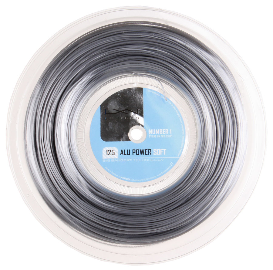 Tenisový výplet Alu Power Soft, Luxilon - průměr 1,25 mm a délka 200 m